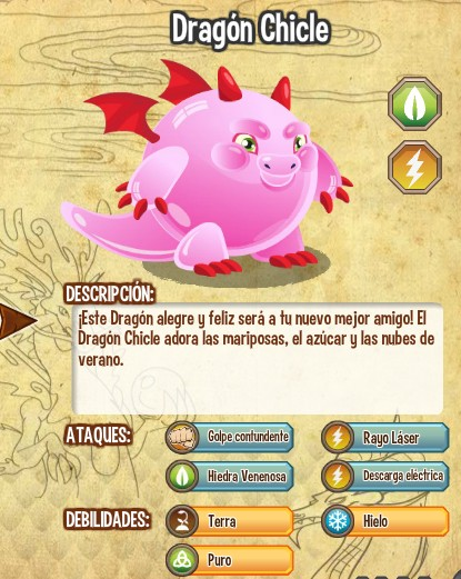 Dragon Chicle caracteristicas