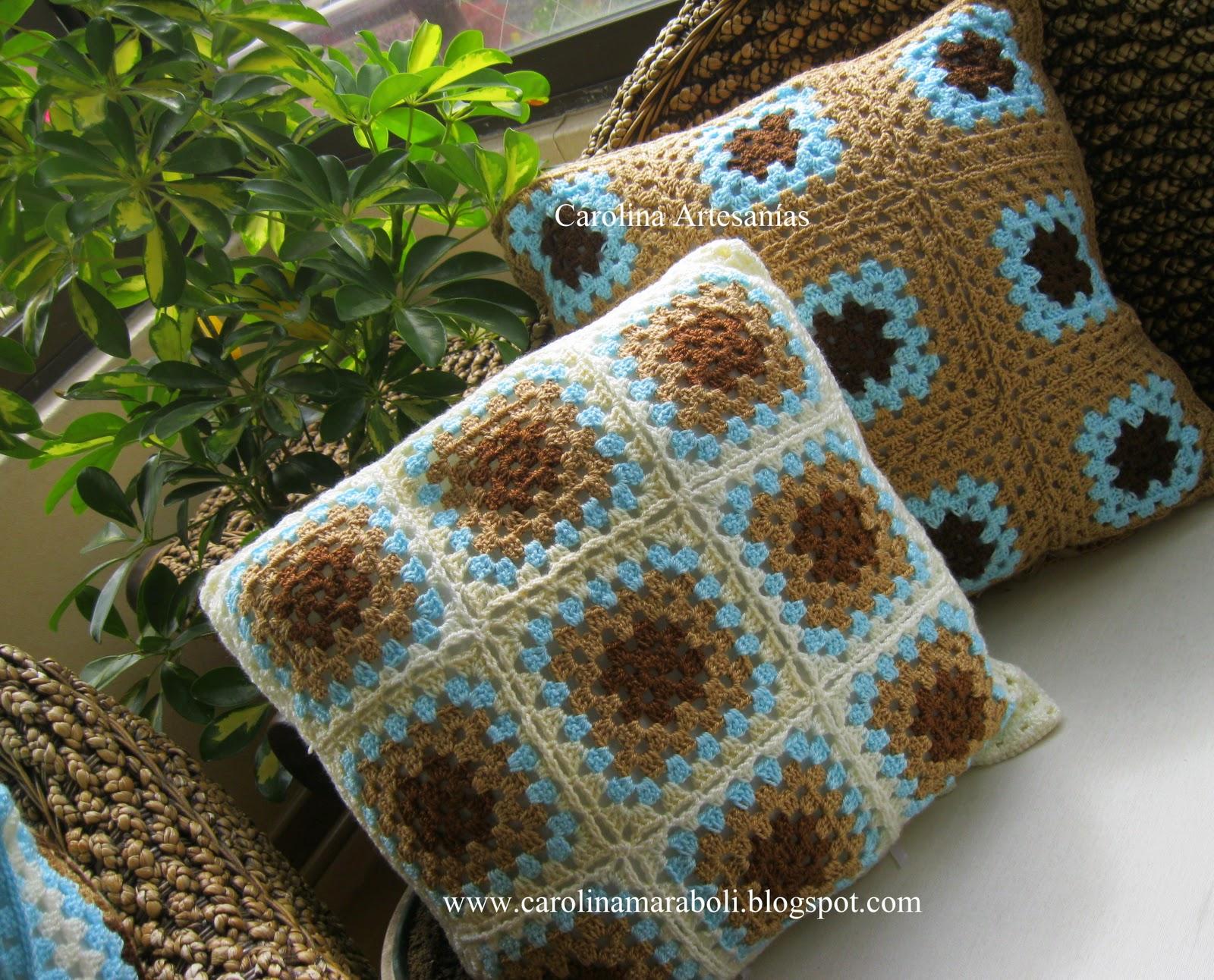 Fachalina Cojines Tejidos A Crochet   Auto Design Tech
