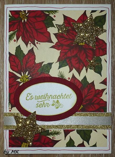 tinas hobbyecke zwei karten zu weihnachten. Black Bedroom Furniture Sets. Home Design Ideas