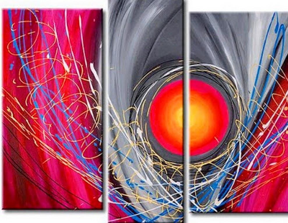 Cuadros modernos pinturas y dibujos cuadros tr pticos - Como pintar un cuadro moderno ...