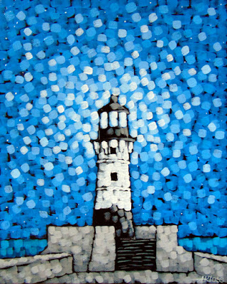 Light The Night, Canal Park, Duluth MN, Lighthouse, Aaron Kloss, Painting