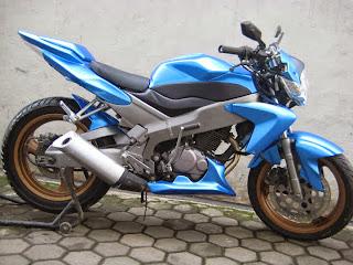 Modifikasi Tiger Tahun 2011 Biru