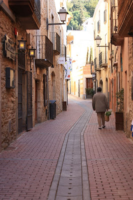 A street of Begur in La Costa Brava