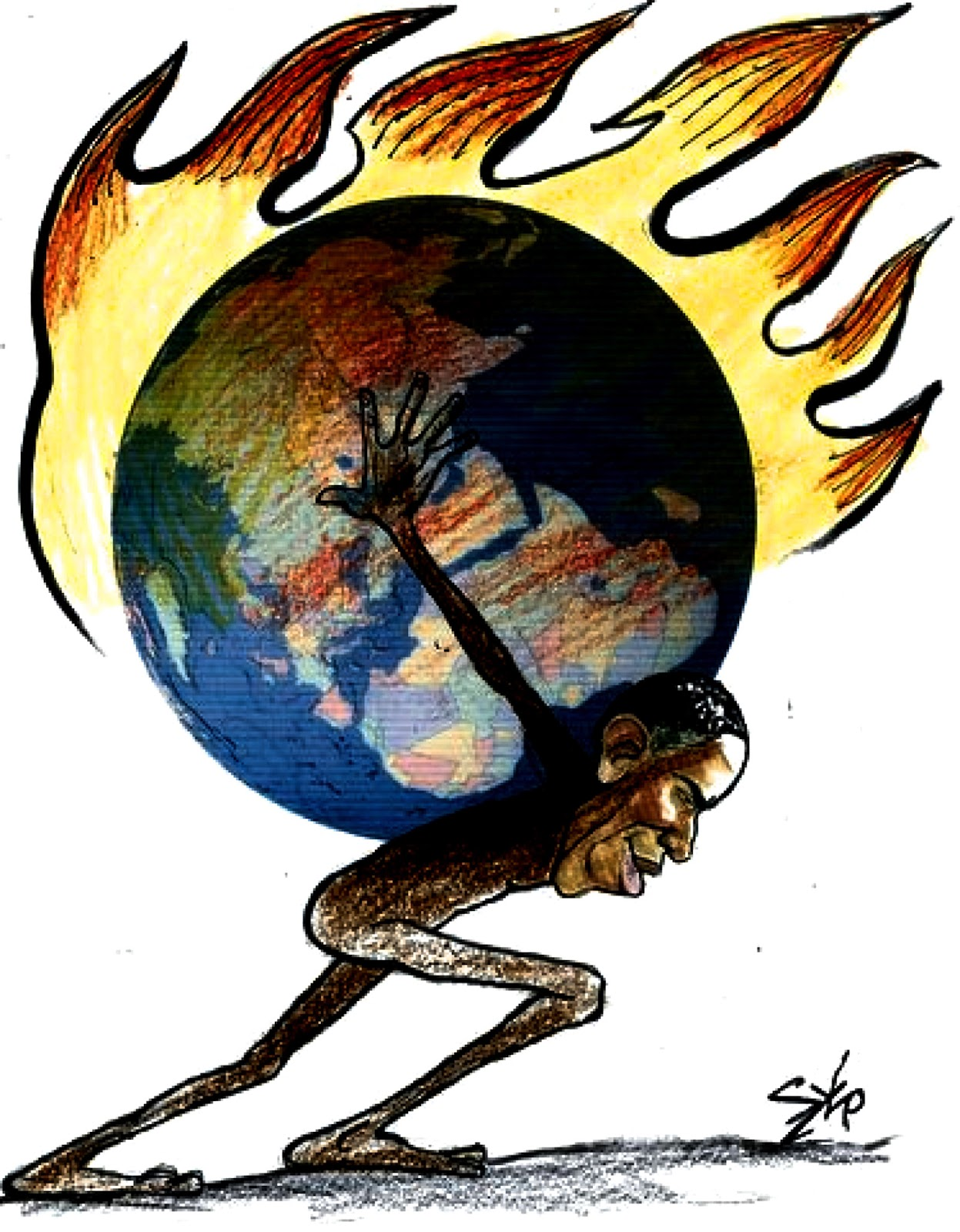 Szep: Obama carrying the planet.