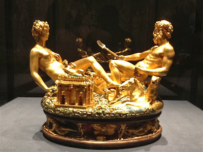 Picture of the Cellini Saliera in Kunsthistorisches Museum Vienna.