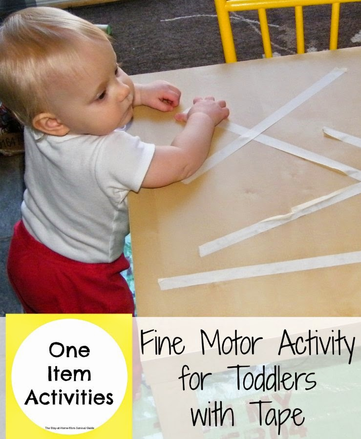 Fine Motor Activity For Toddlers With Tape The Stay At