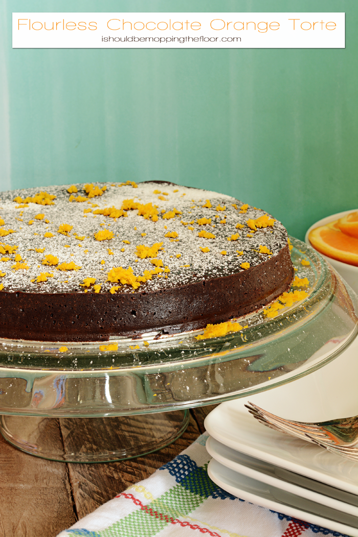 Flourless Chocolate Orange Torte | Delicious & rich special cake for celebrations. | Easier to make than you think!