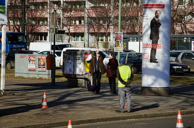 Baustelle Baumfällarbeiten, Otto-Braun-Straße / Mollstraße, 10178 Berlin, 13.02.2014