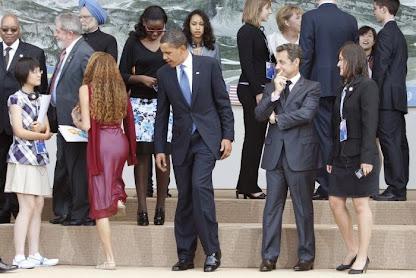 El Presidente Obama y su mirada lasciva...