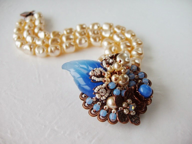 Eesti disain käsitöö ehted mdmButiik vintage stiil käekett Armband alt antik perlen glas