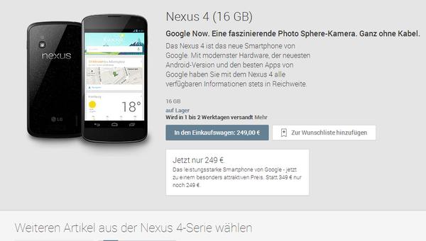 Nexus 4, Nexus