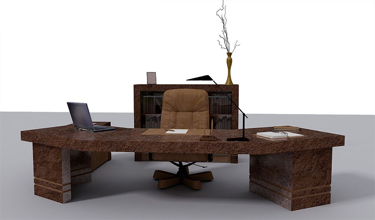 Elegant ceo office design bellisima for Cool office furniture cheap