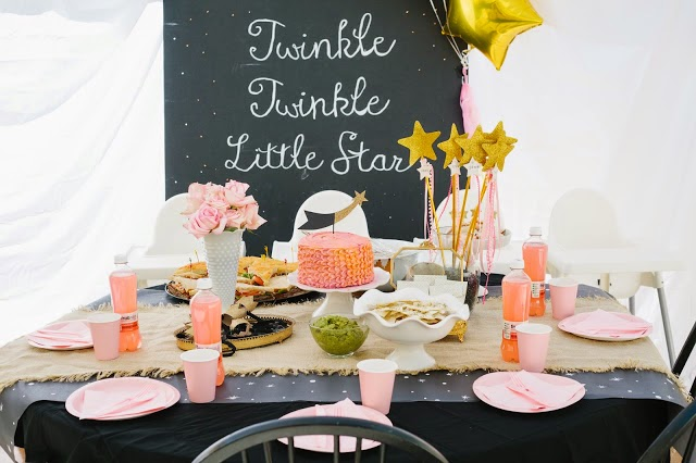 Twinkle Twinkle Little Star first birthday party theme