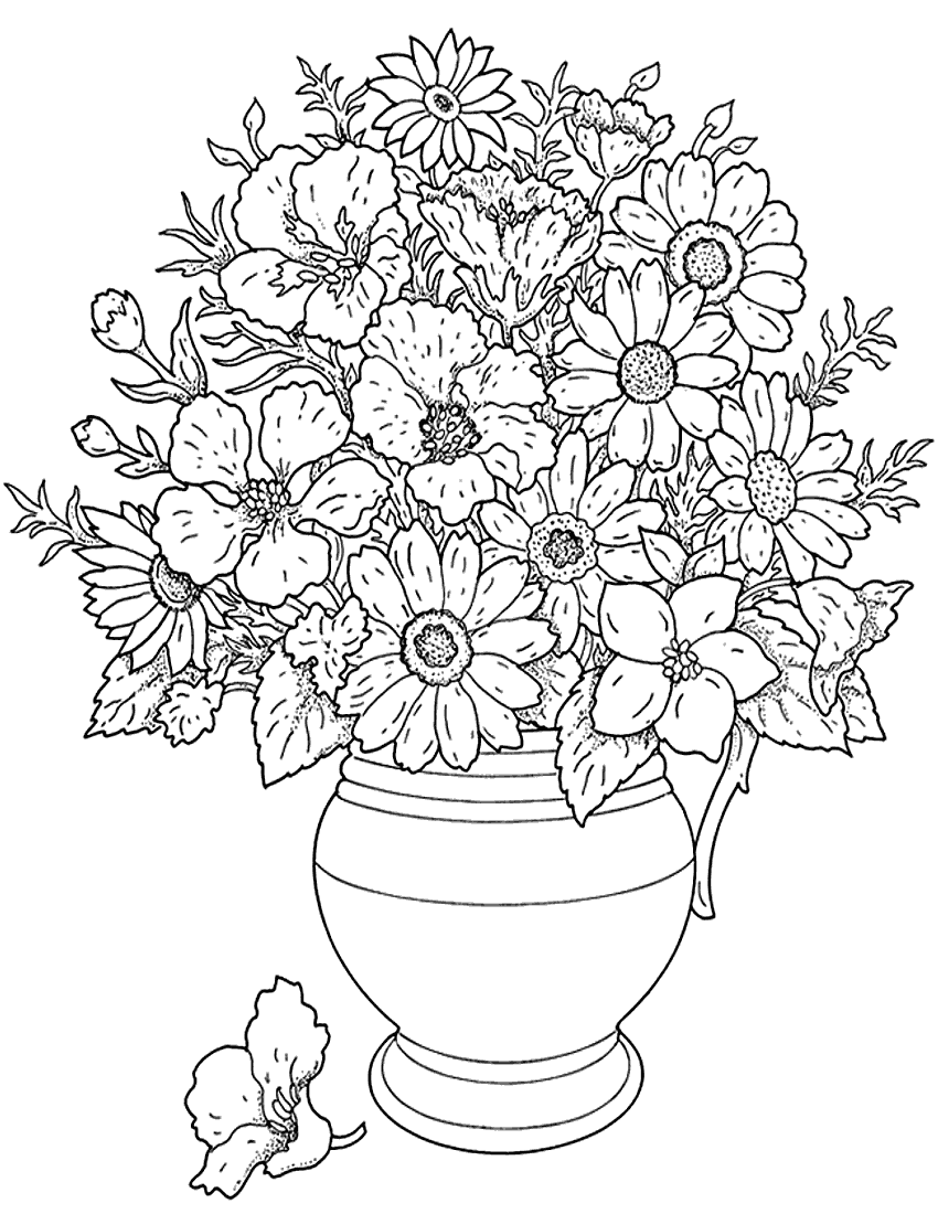 a flower coloring page - flower coloring page flower coloring pages for girls