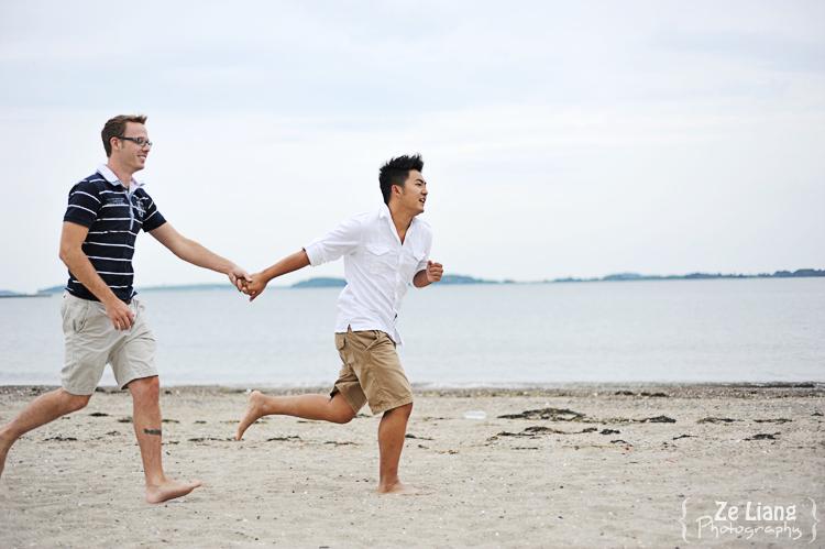 same-sex engagement session castle island boston ben&justin 12