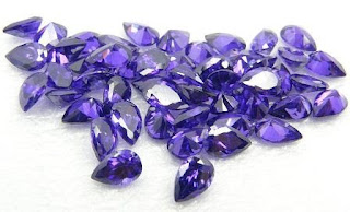 Cubic-zirconia-Violet-Color-Pear-Stones