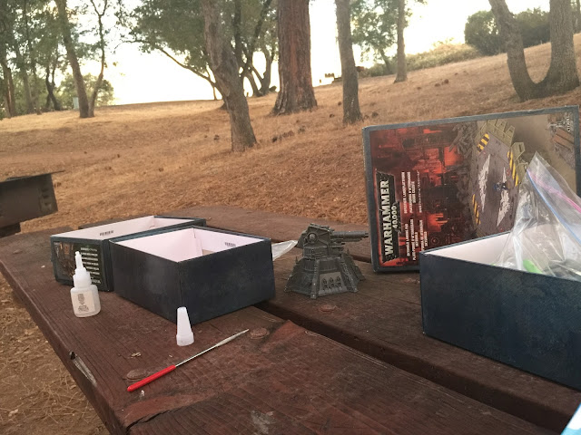 Camping and modeling; Camping 40K; Warhammer on vacation; Battlegaming One