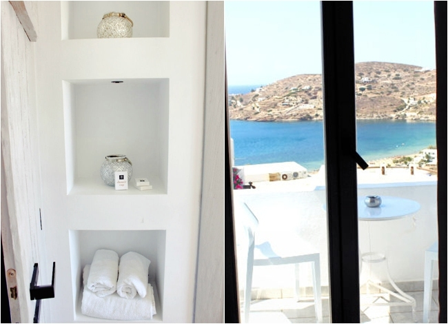 Deluxe suite sharing pool (room 55) in Liostasi hotel & spa (Ios Greece). Best hotels in Ios. Honeymoon hotels in Greece. Luxury hotels in Ios.