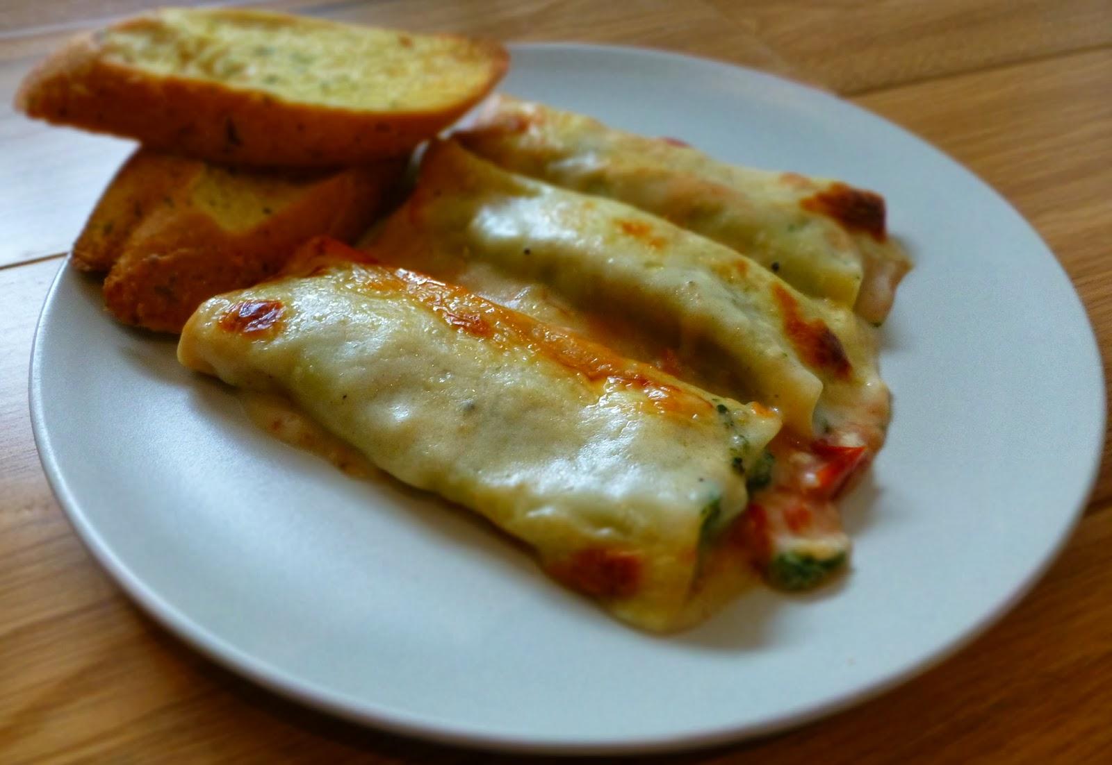 RECIPE # 8: Spinach & Ricotta Cannelloni