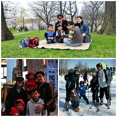 Irmee and her beloved family enjoying life to the fullest