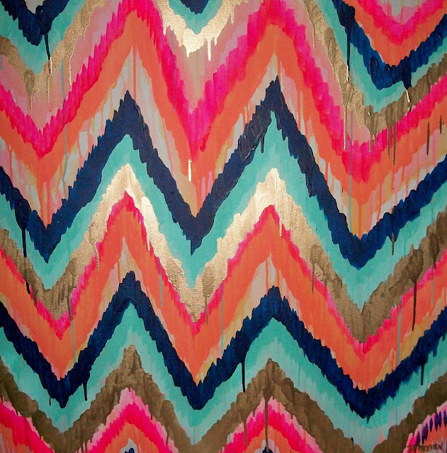 custom-ikat-chevron-painting-jennifer-moreman-etsy-miss-prissy-paige