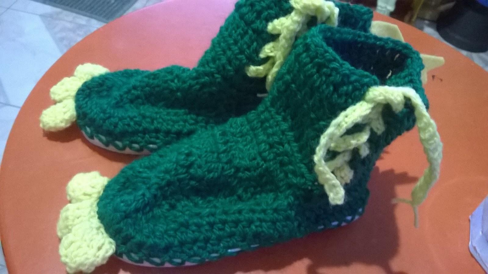 Tocando Mis Sueños: Botas dinosaurio a crochet