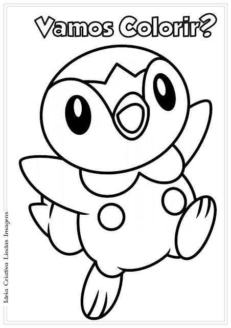 Desenho de Pokémon para colorir
