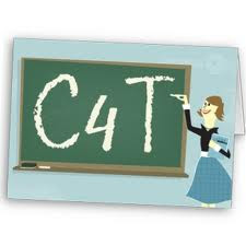 chalkboard with the letters c4t on it