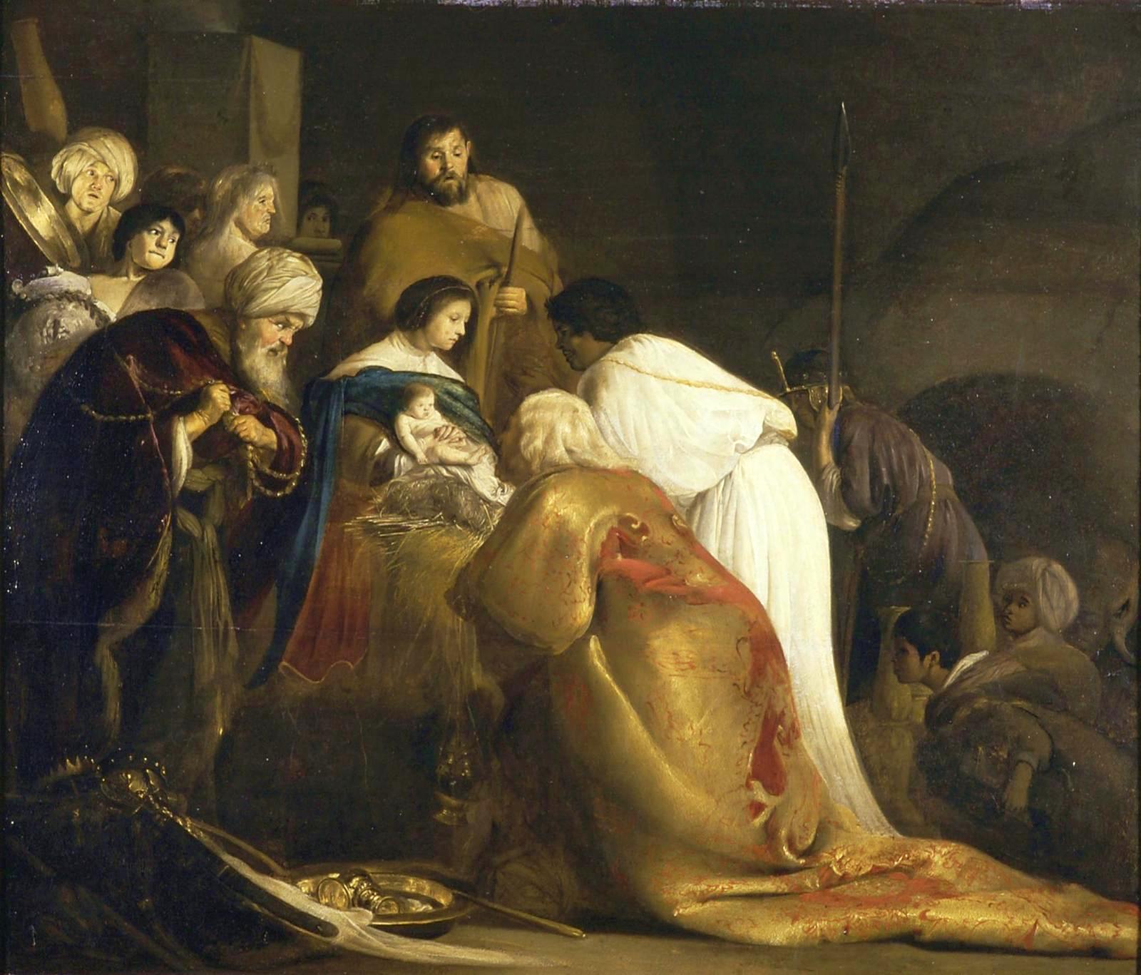 Paulus Bor - Aanbidding van de drie koningen (1634)