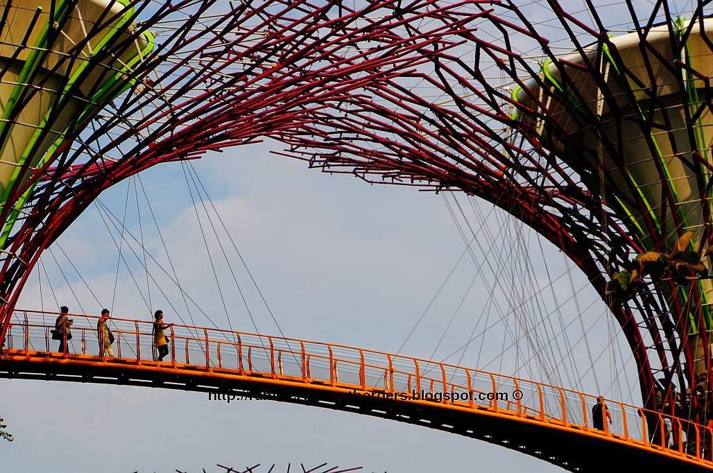 Suspension bridge, Gardens by the Bay, Singapore