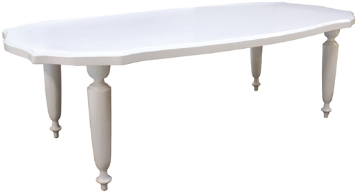 Oly Studio Bovary Dining Table Petite Herringbone Top French Style