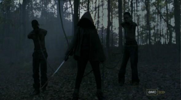 Adelanto sobre El Gobernador y Michonne - T3 the walking dead Michone-amc-walking-dead-590x329