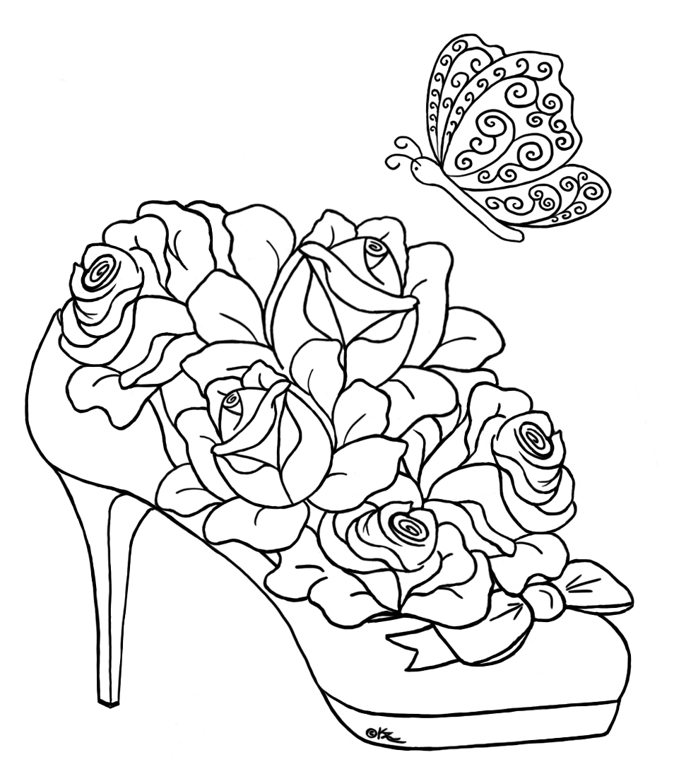 Free Coloring Pages Of Adult Hearts Hearts And Roses Coloring Pages