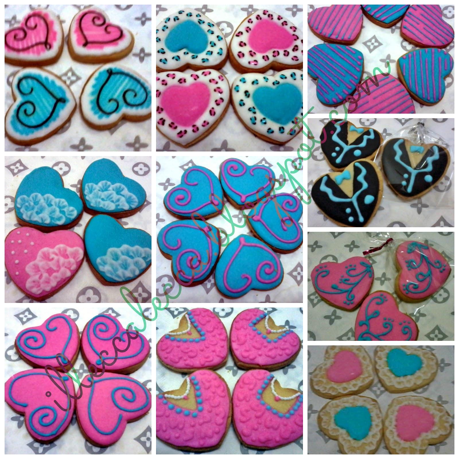 small size heart shape fancy cookies