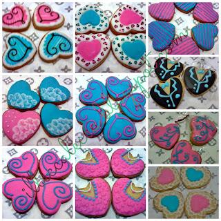 pink blue wedding fancy cookies