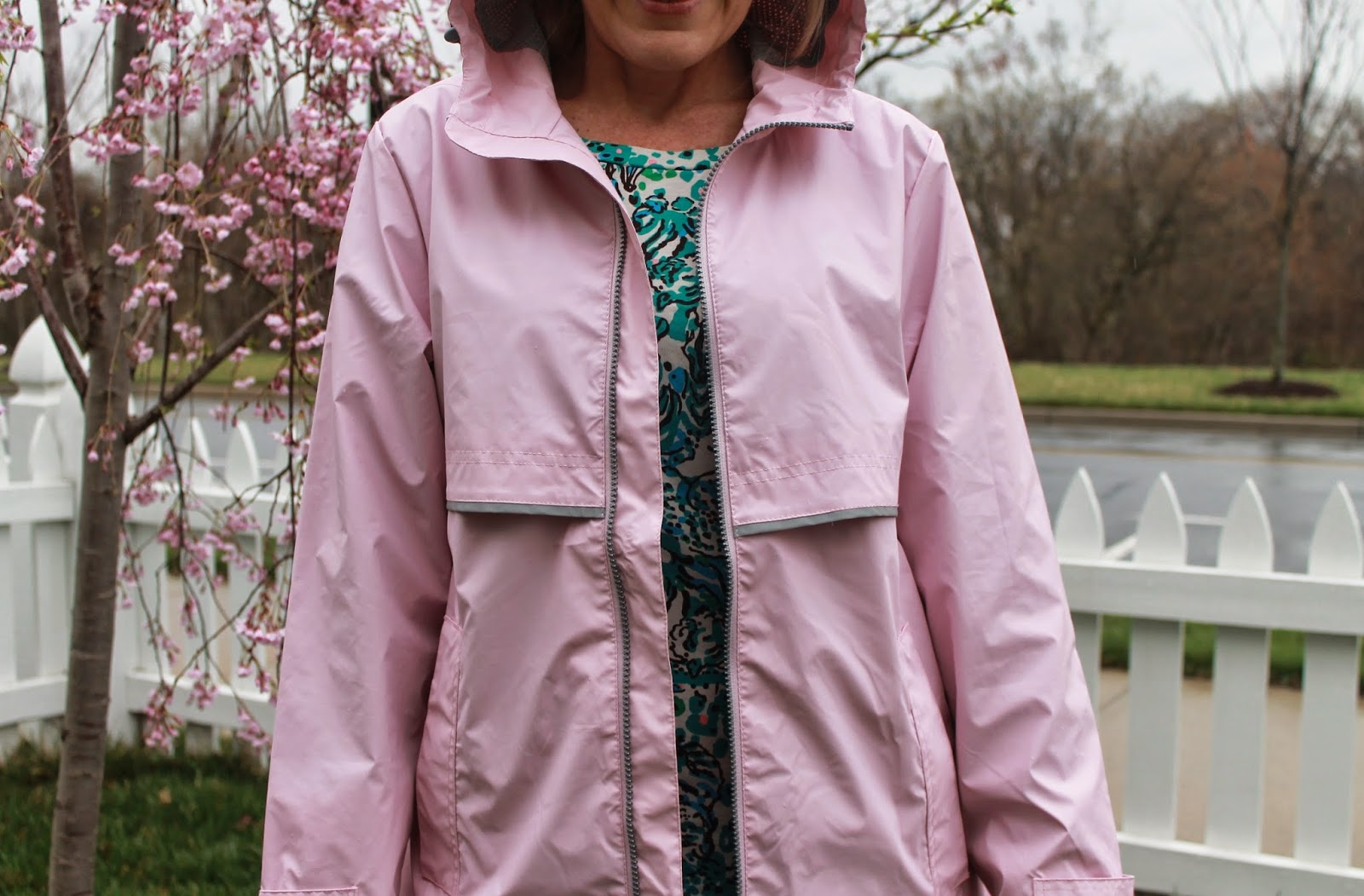 charles river apparel rain jacket preppy