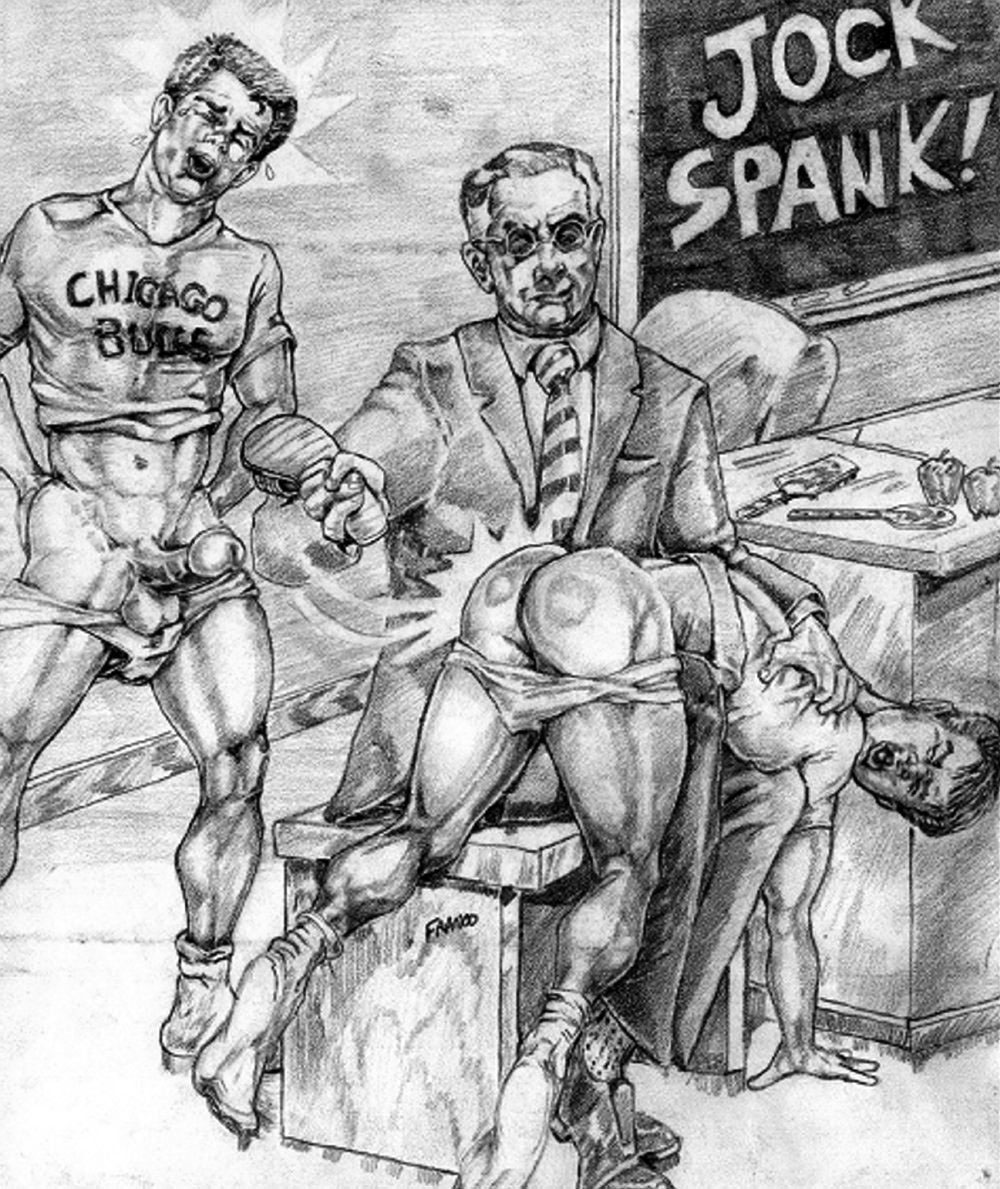 Franco Jock Spank Anton's first appearance at Spanking Central