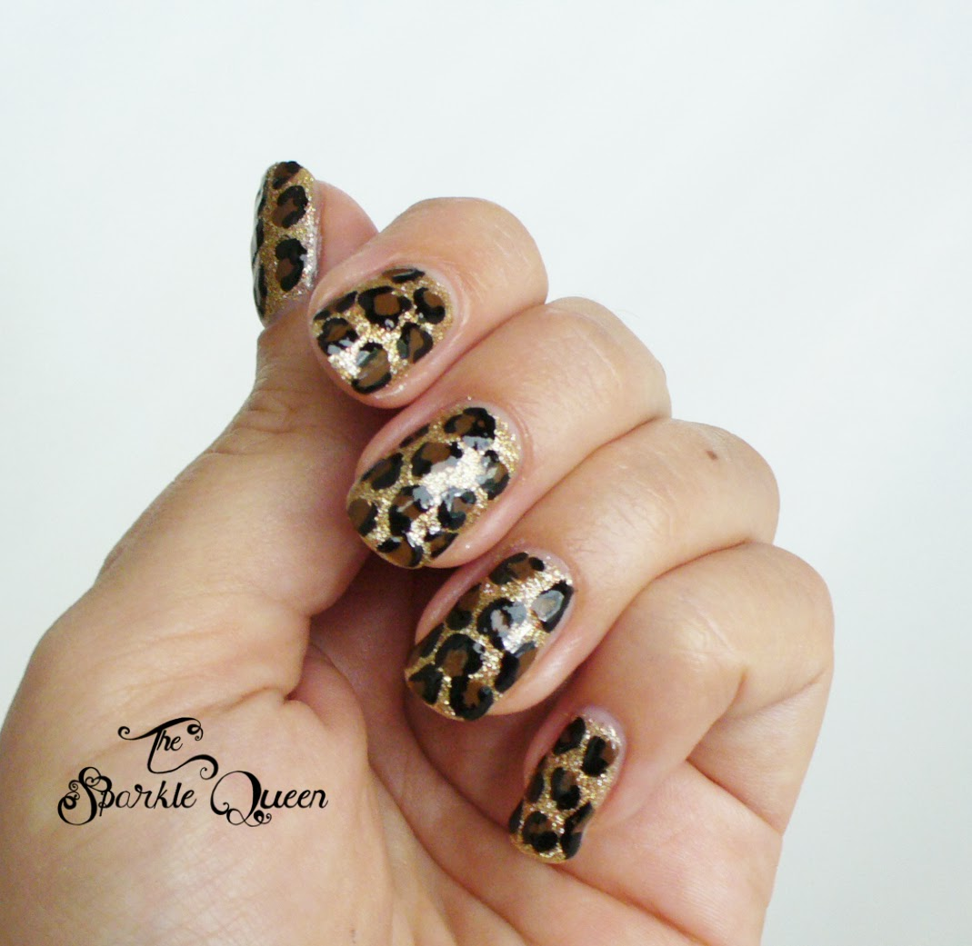The Amusing 2015 cheetah print glamour nails Image