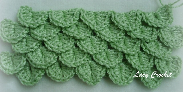 Crochet Crocodile Stitch : Lacy Crochet: Crocodile Stitch