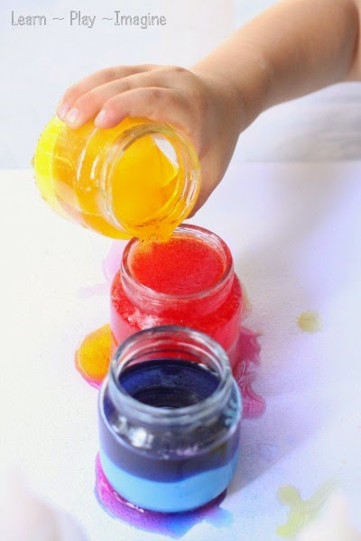 Color mixing with our favorite erupting paint recipe