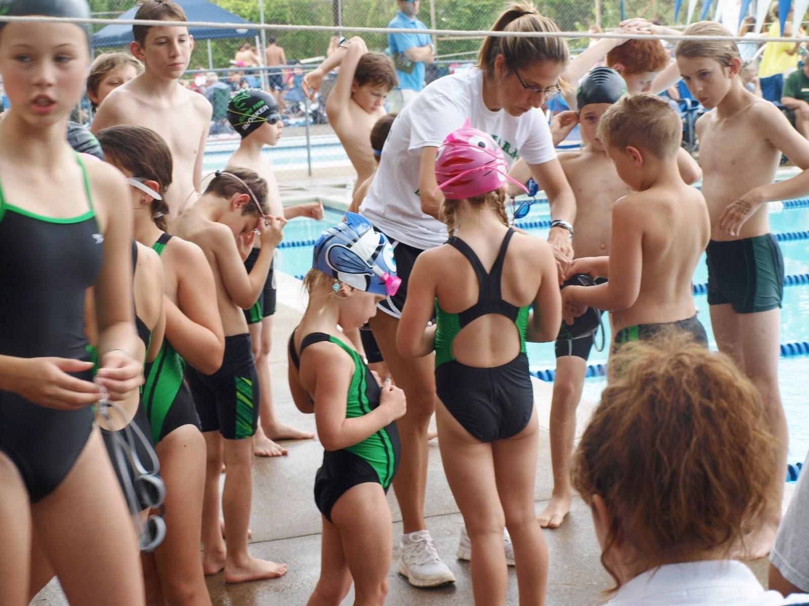 girls swim team pubes