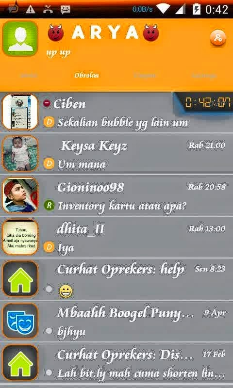 BBM MOD Droid Chat v3.4.29 Simple Theme