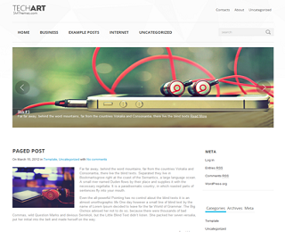 Techart+Blogger+Template