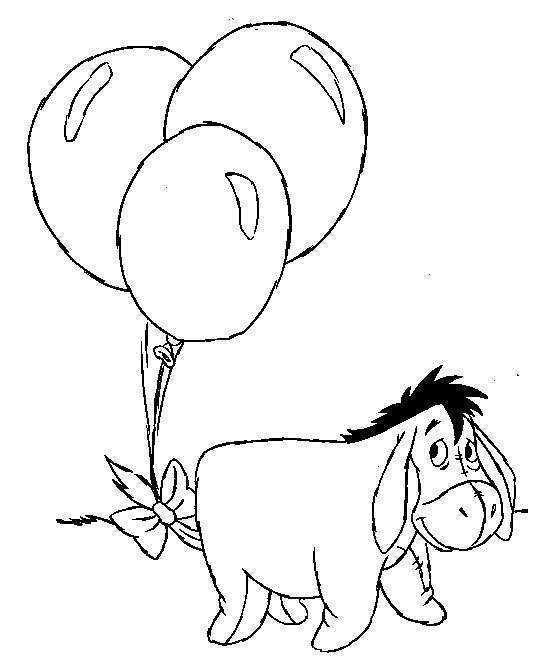 disney cartoon characters playing balloon coloring pages kids coloring pages