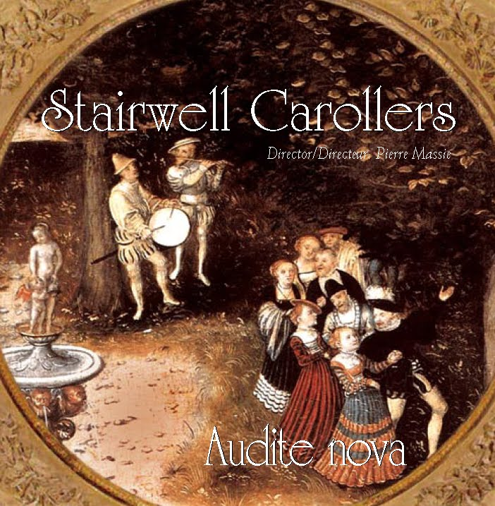 Stairwell Carollers Audite Nova Madrigal CD Cover