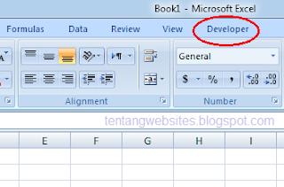 menambah tab developer pada excel