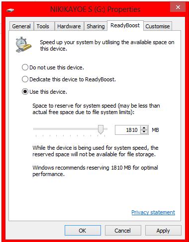 Cara menambah RAM dengan fitur ReadyBoost (Flashdisk)