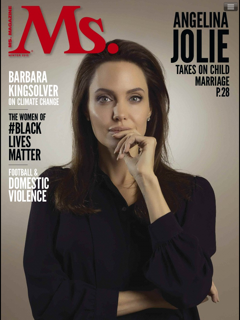 Actress, Director, Writer, Producer Angelina Jolie for Ms Magazine