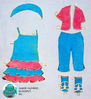 Бумажная кукла СССР