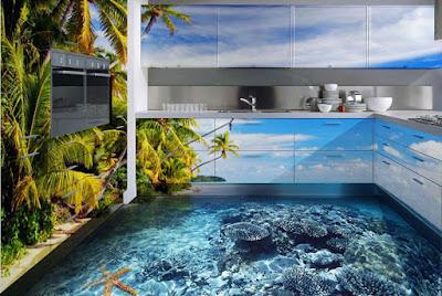 Lantai Dapur 3 Dimensi